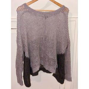 Tobi two tone gray sweater